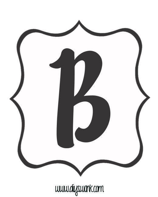 free printable black and white banner letters banners pinterest