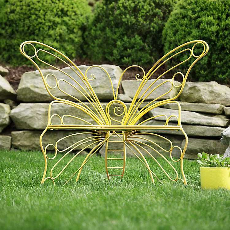 Yellow Metal Butterfly Garden Chair With Images Garden Chairs