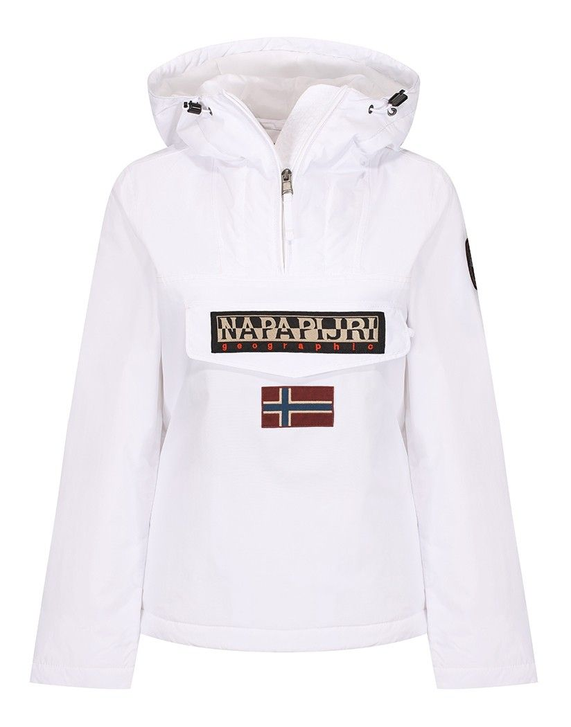 Napapijri Women s Rainforest Winter Pullover Jacket - Bright White ... ec6dc622b62