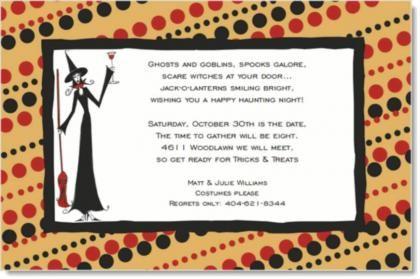 Halloween Invitation Wording For Friends 2016