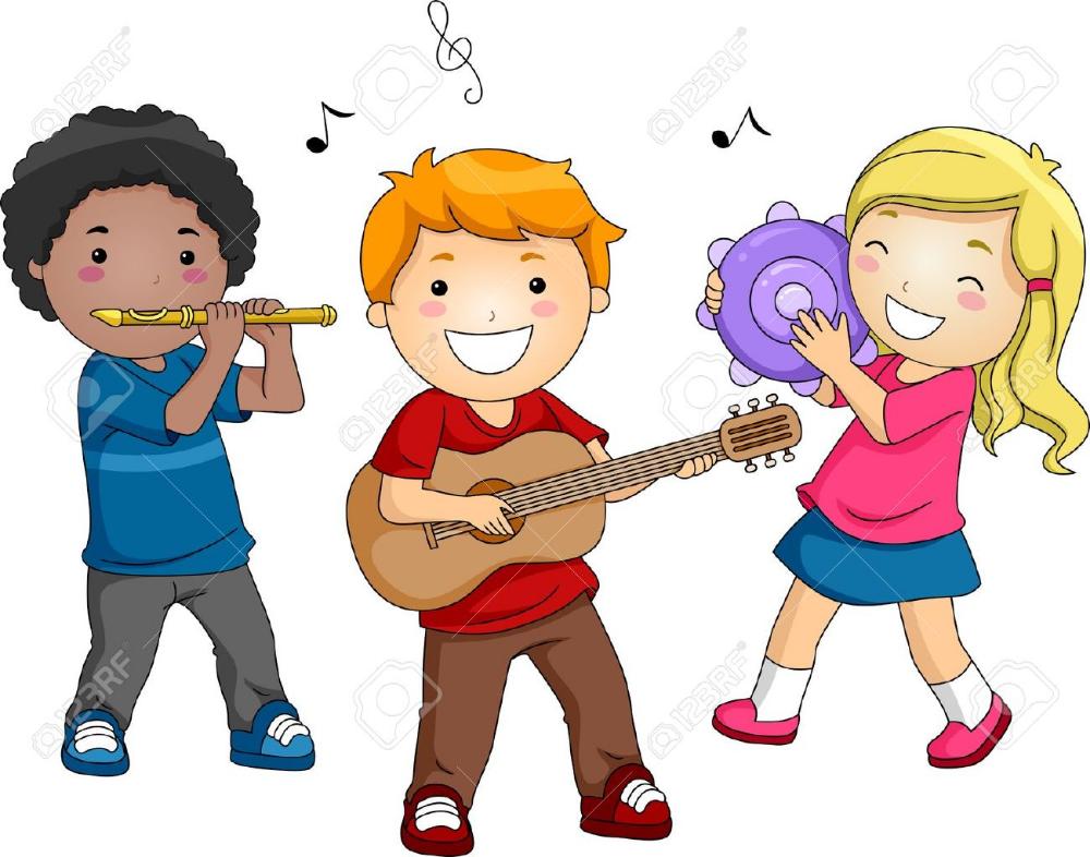 Ilustracion De Ninos Tocando Diferentes Instrumentos Musicales Instrumentos Musicales Para Ninos Musicales Para Ninos Dibujo De Ninos Jugando
