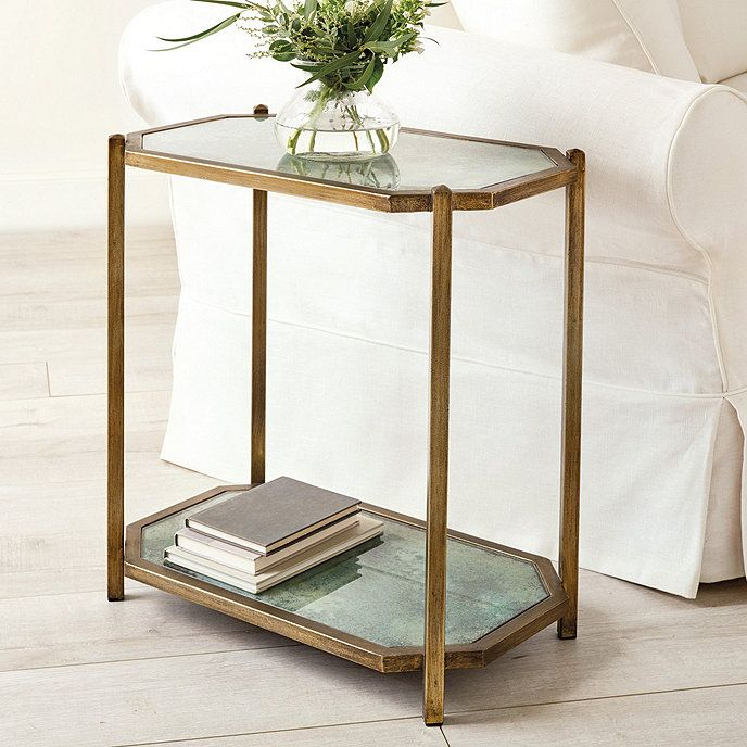 Kendall Rectangle Side Table Glass Side Tables Glass Shelves