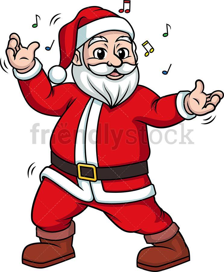 Santa Claus Dancing Cartoon Clipart Vector Friendlystock Cartoon Clip Art Clip Art Dancing Santa