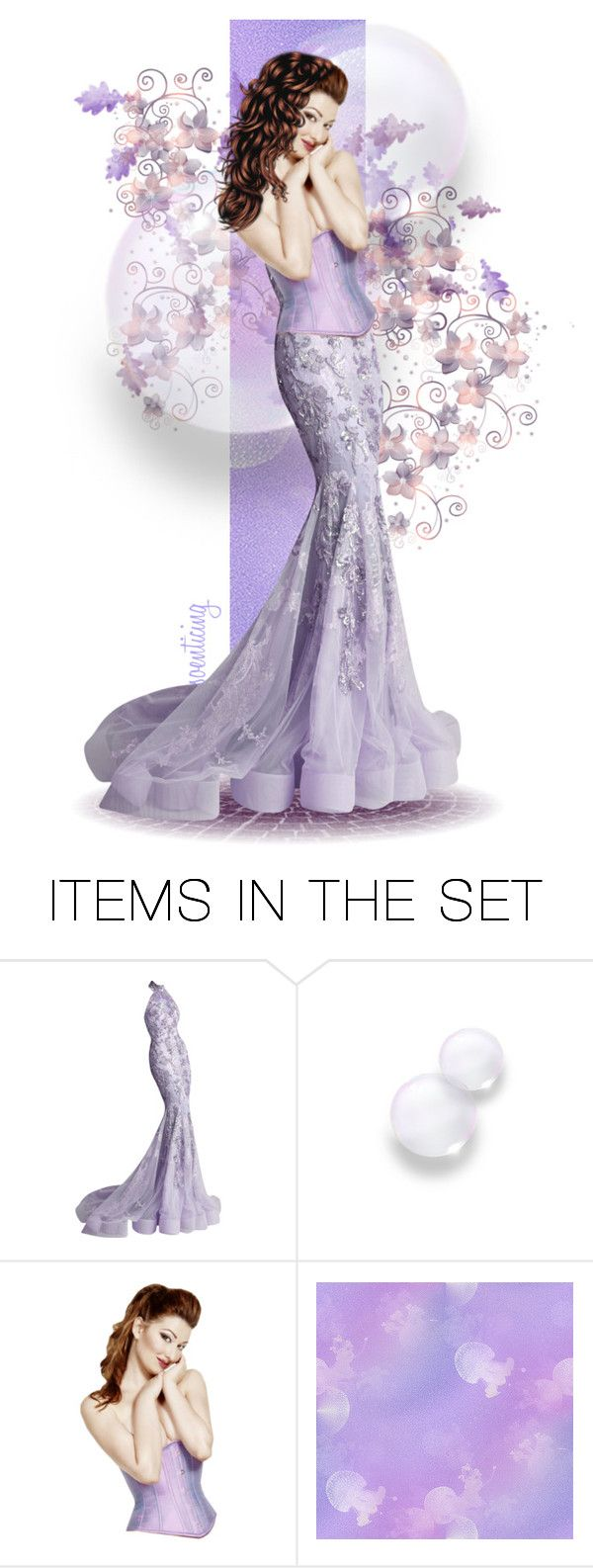 """""""Purple Petals and Flowers for cindu12"""" by soenticing ❤ liked on Polyvore featuring arte"""