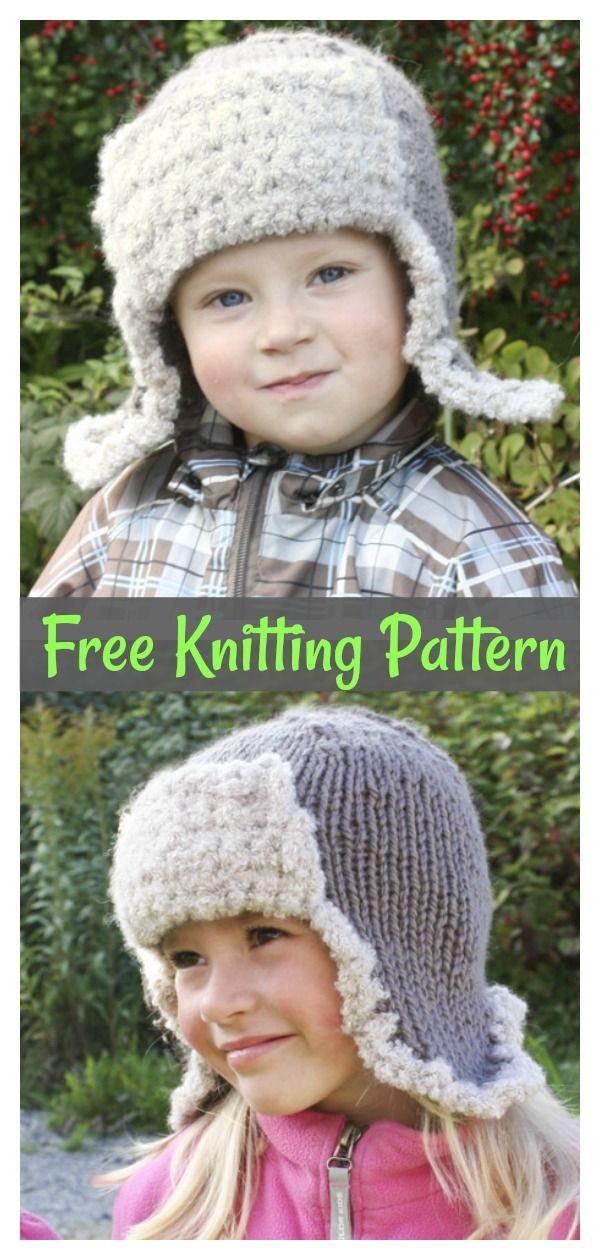 Aviator Earflap Hat Free Knitting Pattern   Knitting ...