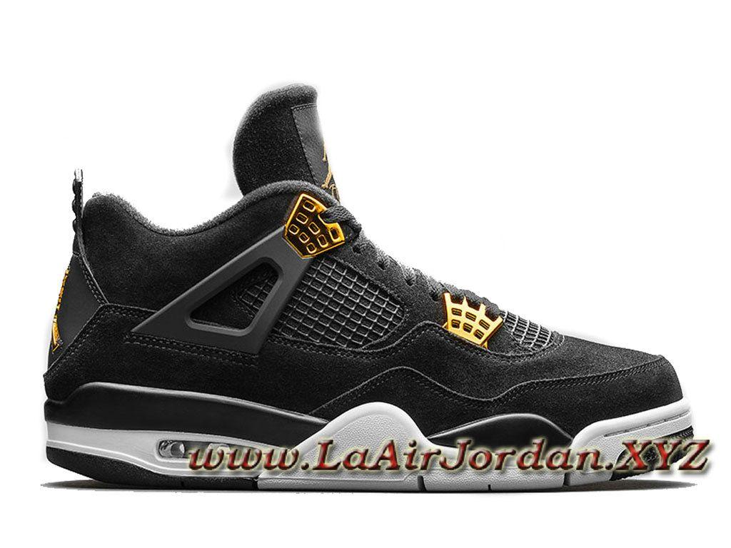 Air Jordan 4 Retro Royalty 308497-032 Chaussures Jordan Sportwear Pour  Homme Noir-Sneaker