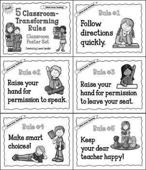 Whole Brain Teaching Classroom Rules Posters Free Classroom