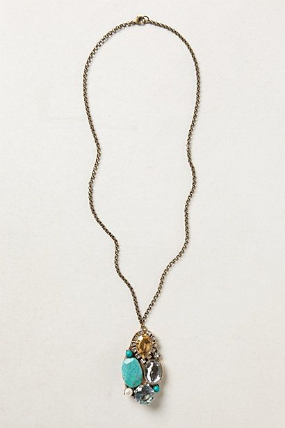 Turquoise Cluster Necklace #anthropologie