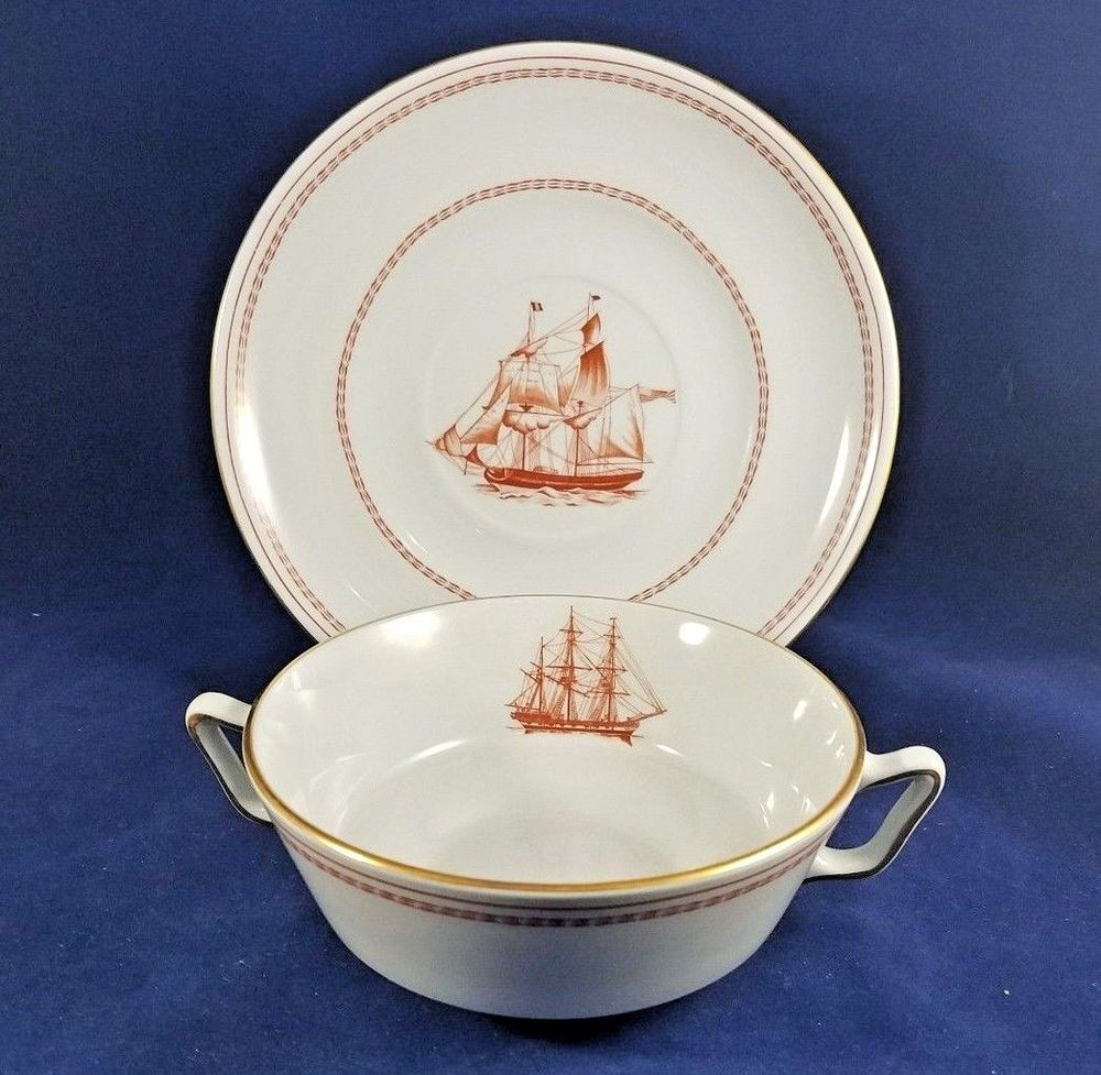 Spode TRADE WINDS RED - Cream Soup Cup & Saucer | Pinterest | Trade ...