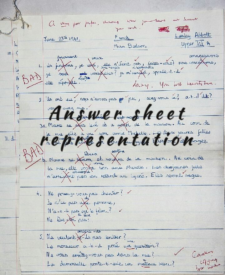 Smart way of your Answer sheet representation in exam for