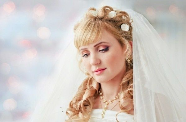 50 Lovely Wedding Hairstyles with Bangs