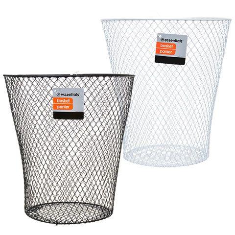 Essentials Wire Wastebaskets 9x9 In Wastebaskets Waste Baskets Dollar Store Organizing