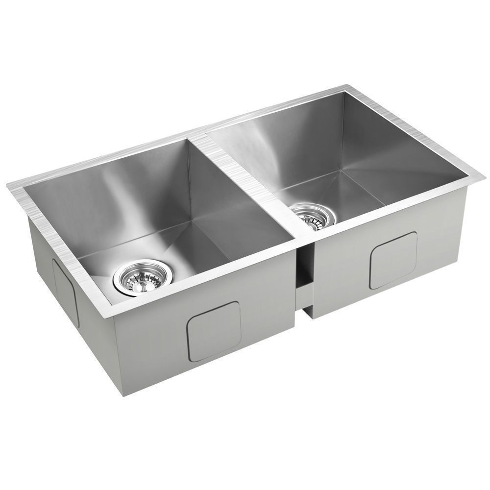 Stainless Steel Kitchen Sink Laundry Double Bowl Undermount