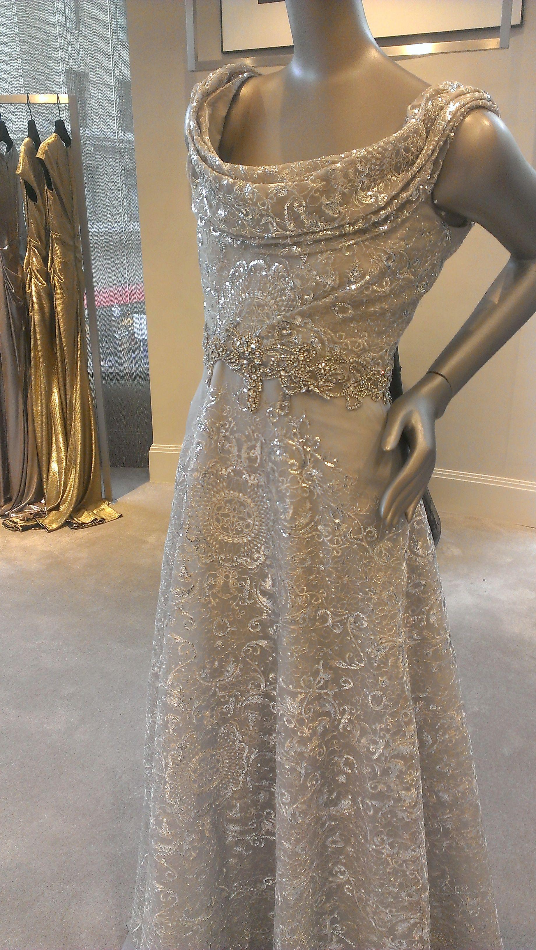 Talbot Runhof gown at Saks Fifth Avenue, Union Square, San