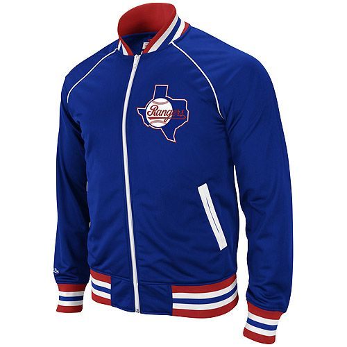 release date: e7484 119dd Texas Rangers Broad Street Track Jacket by Mitchell & Ness ...