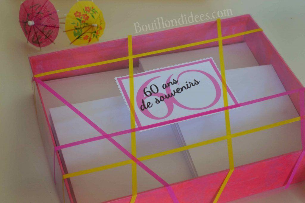 Offrir Une Boîte à Souvenirs Pour Les 60 Ans Idée De Cadeau