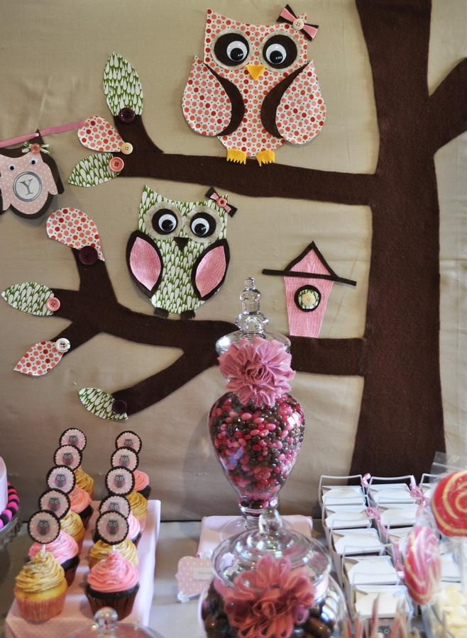 Owl Decor! Too Cute For A 1st Birthday Party =]