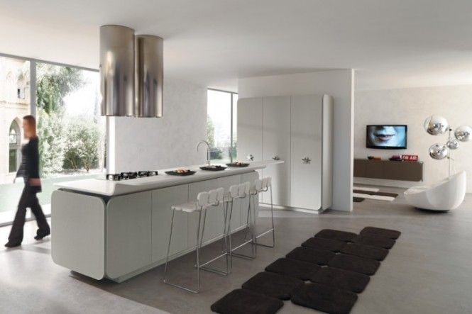 Flowing Open Interiors From Euromobil Kitchen Modern