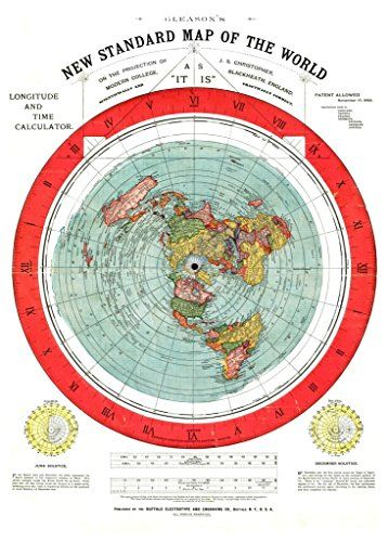 Flat earth gleasons new standard map of the world circa 1892 flat earth gleasons new standard map of the world circa 1892 archival reprint company gumiabroncs Gallery