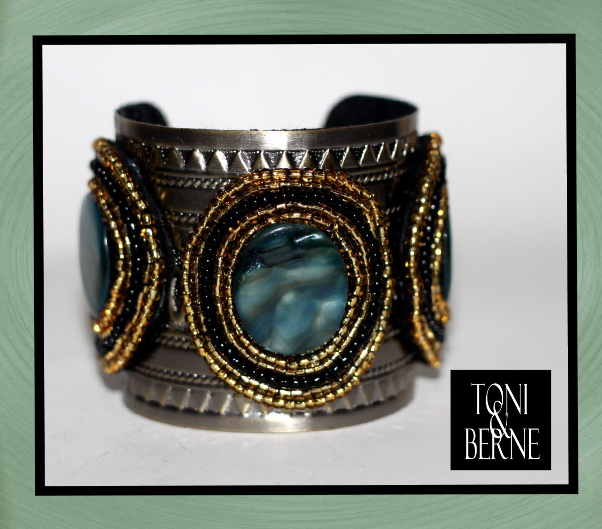 Our personal pick for you to feast your eyes on...  This Bold & Beady Cuff by TONI & BERNE instantly adds elegance, edginess and fierceness to your look!    www.toniandberne.com
