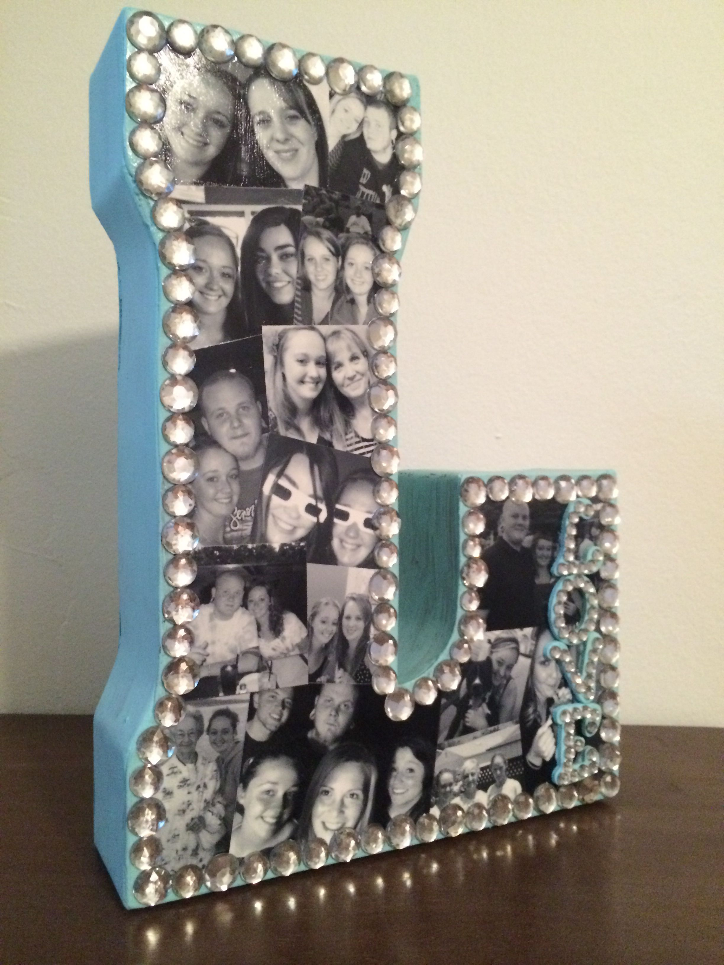 Diy Picture Letter Instead Of A Wooden Letter I Tried A