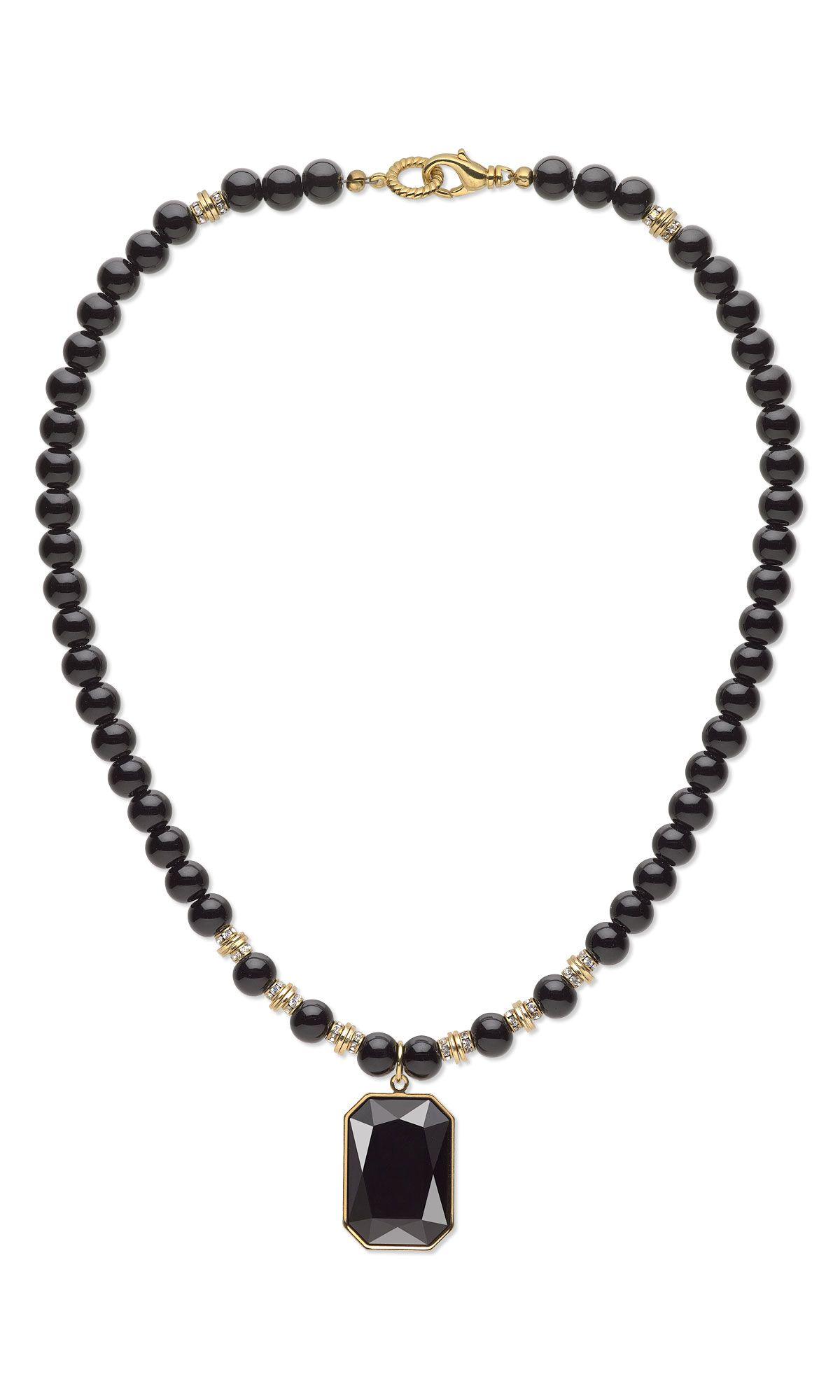 Jewelry Design - Single-Strand Necklace with Swarovski Crystal ...
