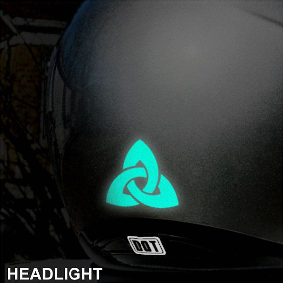 Triquetra Reflective Decal Trinity Knot Motorcycle Helmet - Vinyl stickers for motorcycle helmetsdragon hyper reflective decal motorcycle helmet safety sticker