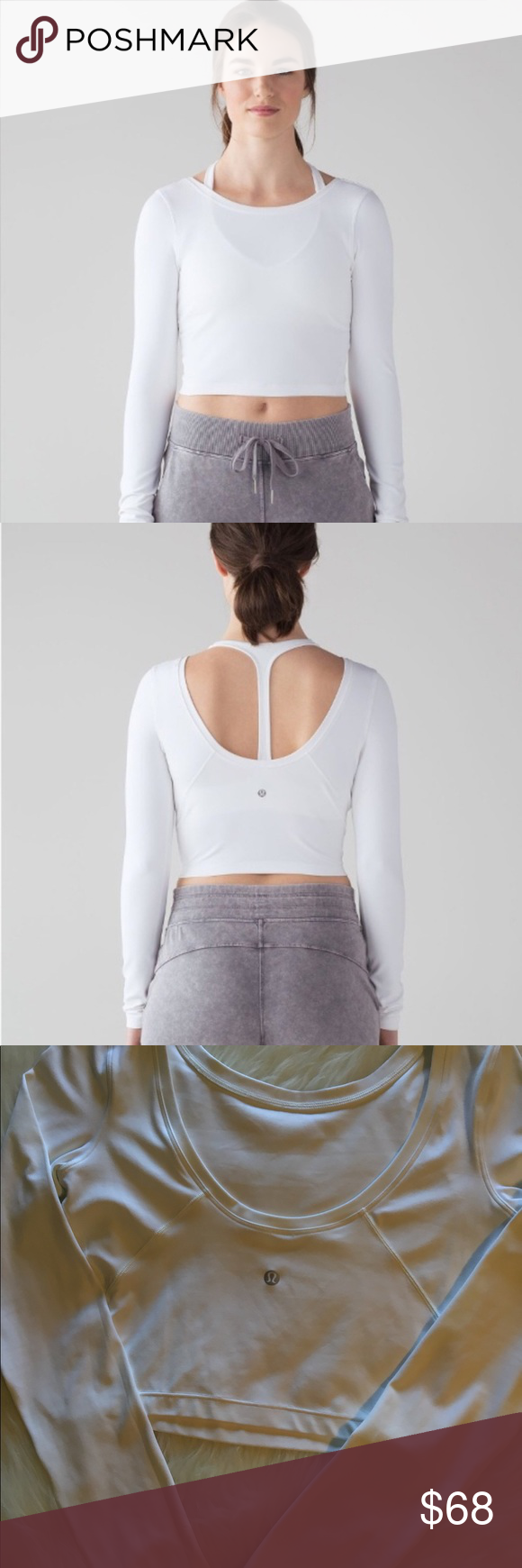 f0d567f31c2 Lululemon Arise Cropped Long Sleeve A great Lululemon crop top in great  condition. Lightweight and