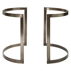 Wells Two Piece Table Base In Antique Pewter Brass Dining Table