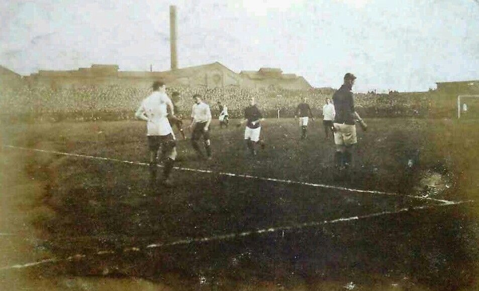 England 2 Ireland 1 in Feb 1911 at the Baseball Ground, Derby in the Home Championship.