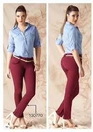 Resultado de imagen para combinacion de pantalon vinotinto
