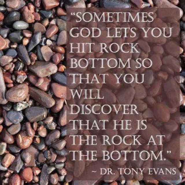 HE is the rock our our salvation.