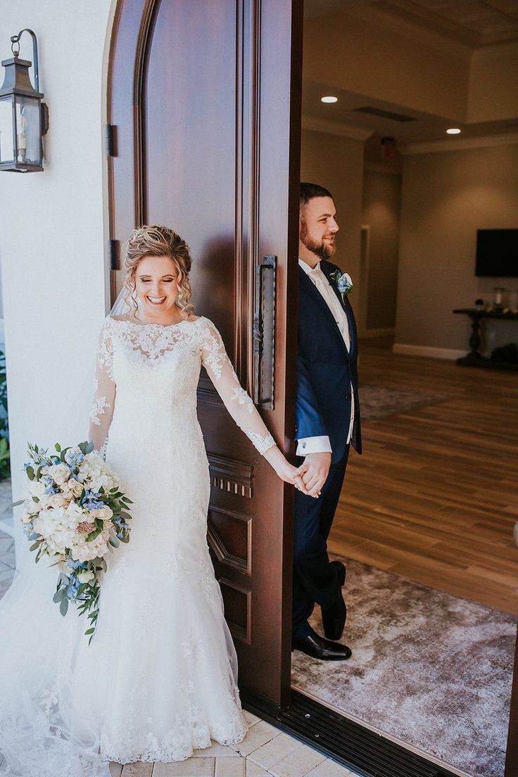 Photo of {Real Wedding} Andrea and Aaron: French Country Harborside Blue & Blush Wedding