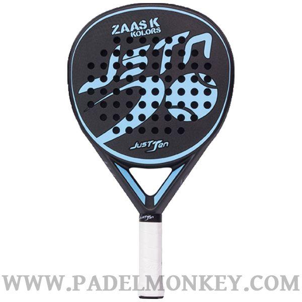 182b296fa Pala de padel Zaas K kolors Negra-Azul de la marca JUSTTEN ya en  PADELMONKEY.