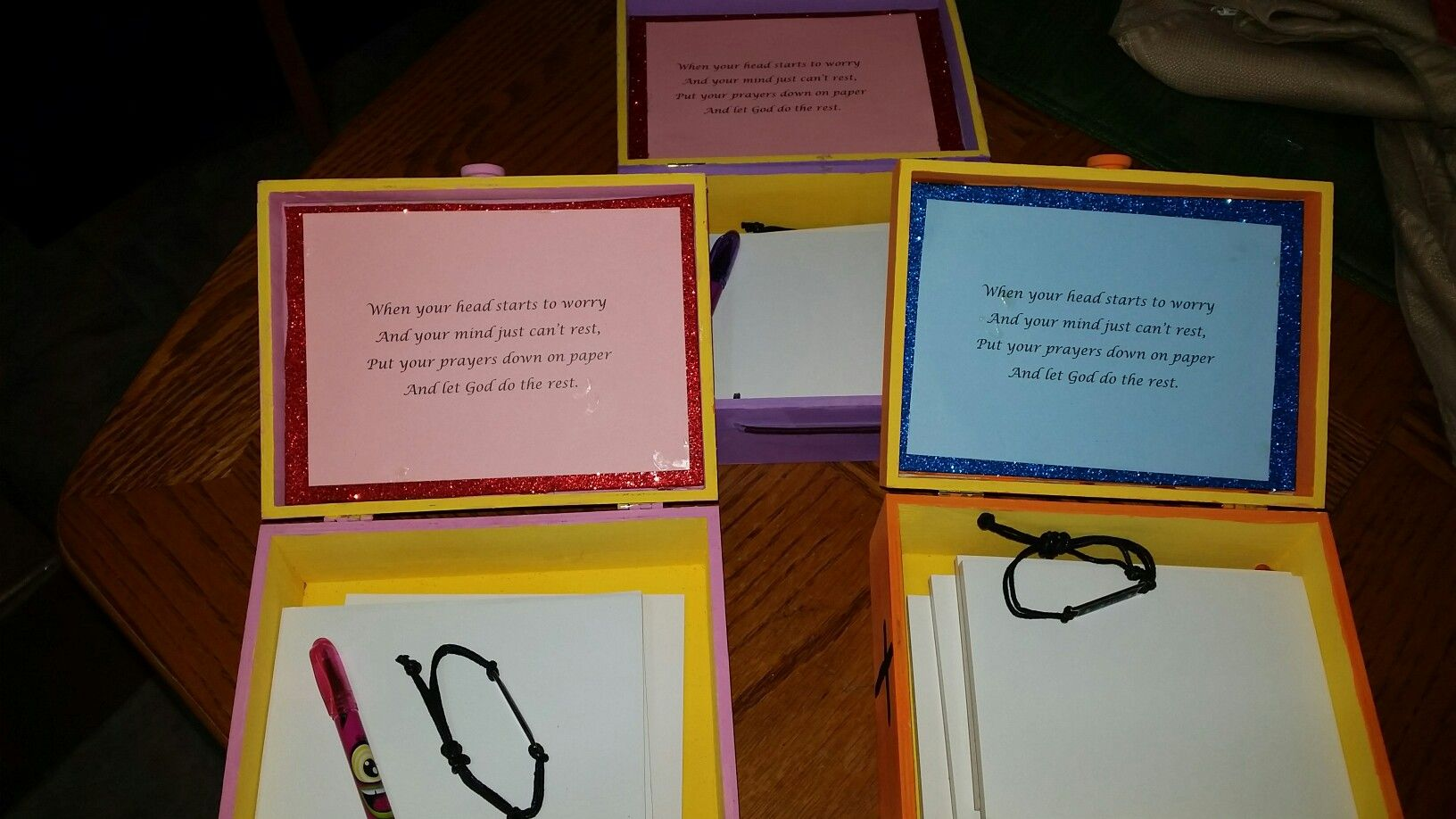 Dollar store prayer boxes