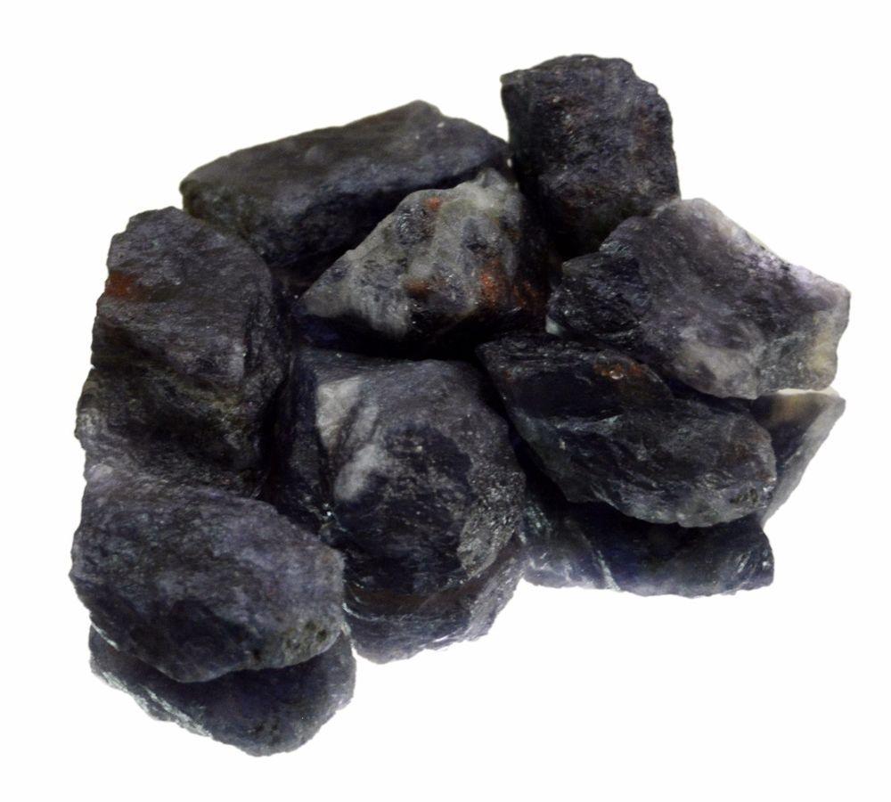 385ct / 8pcs Natural Blue Iolite Rough Gemstone Unheated Specimen Stone Lot #krsnajewelsindia