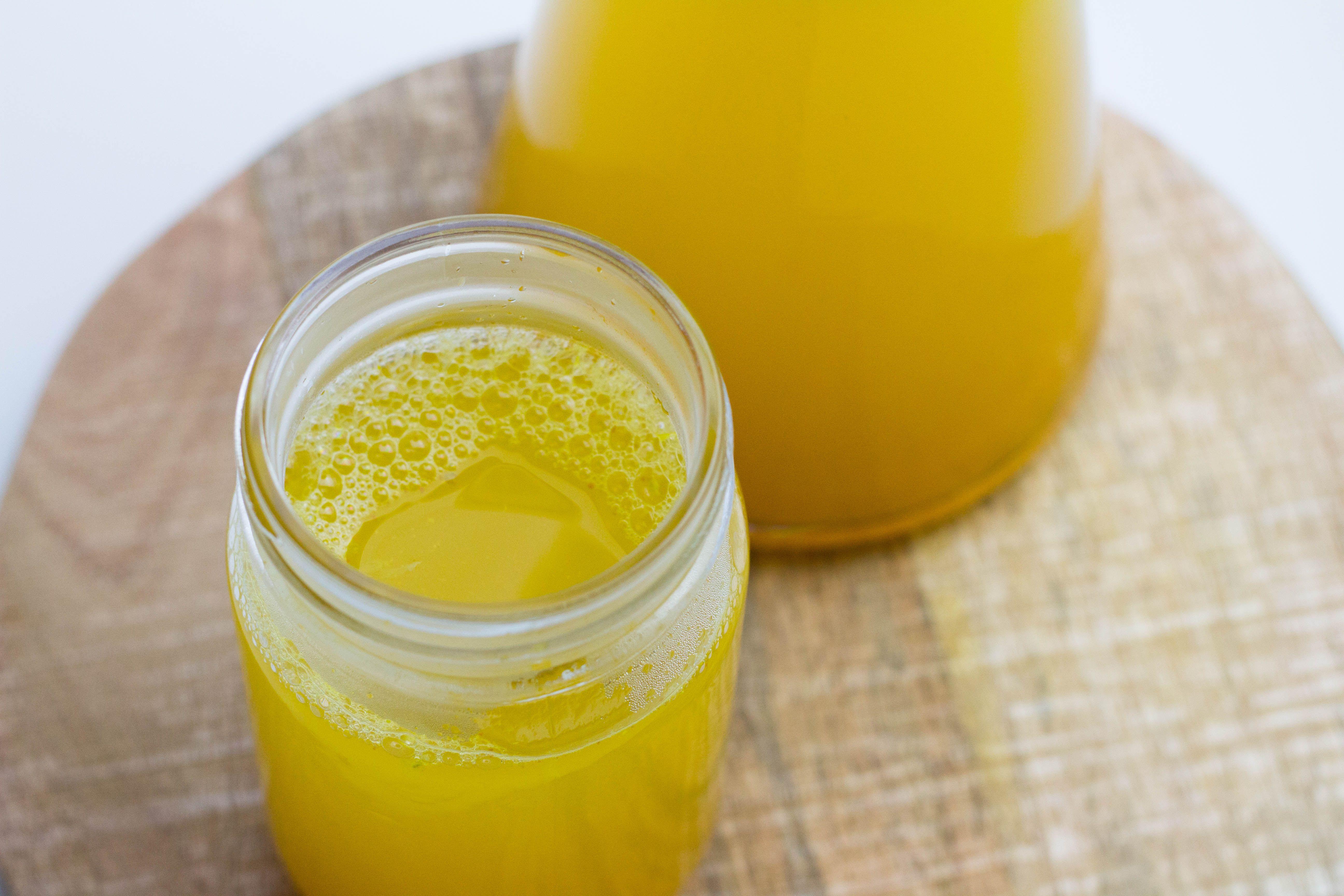 Ein Kurkuma Tee Mit Zitronen Orangen Und Ingwer Hilft Toll Als