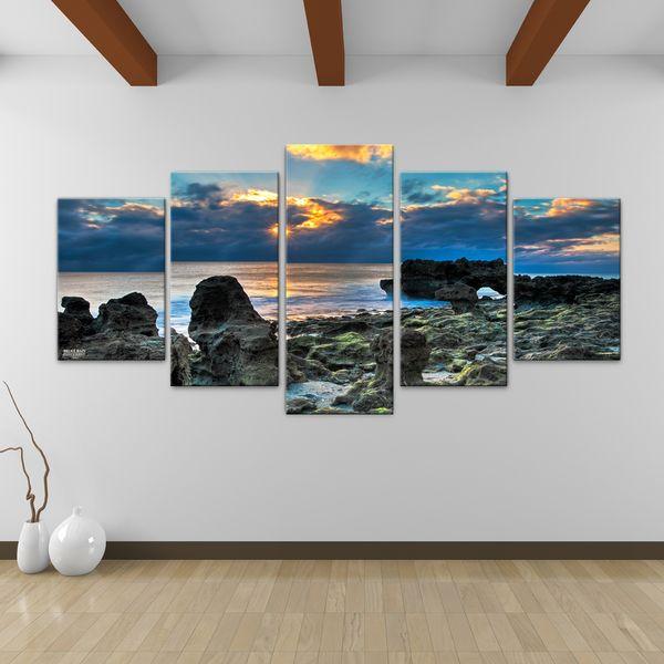 Ready2HangArt Bruce Bain \'Sun Rise\' 5-piece Canvas Wall Art (30 In ...
