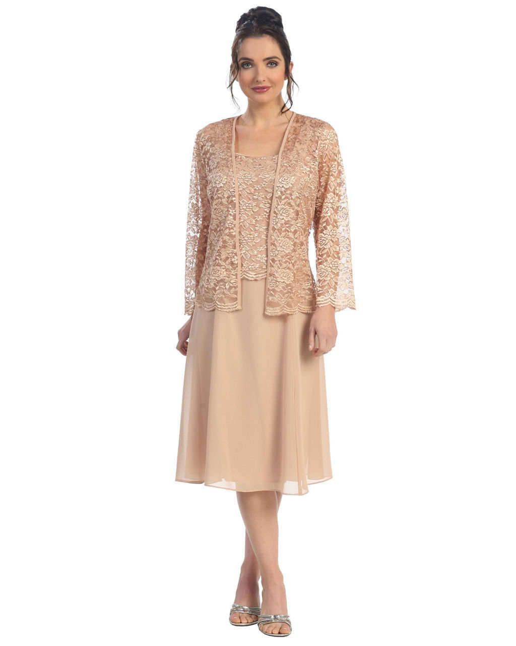 Images of Mother Of The Bride Dress With Jacket Plus Size - Kcraft