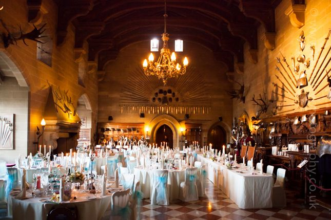 Wedding Breakfast Set Up Is Complete In The Great Hall Of Warwick Castle Photography By
