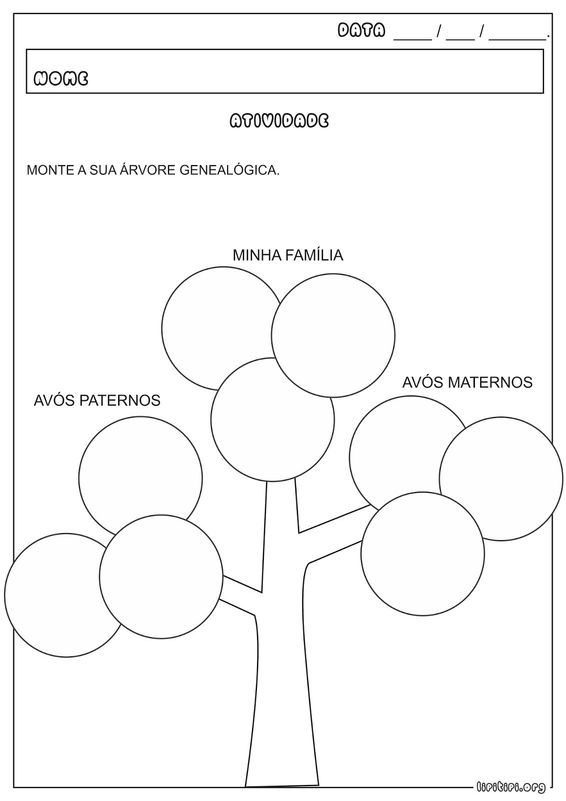 Amado Árvore Genealógica Atividade | 4 ANO | Pinterest | Árvores  FH97