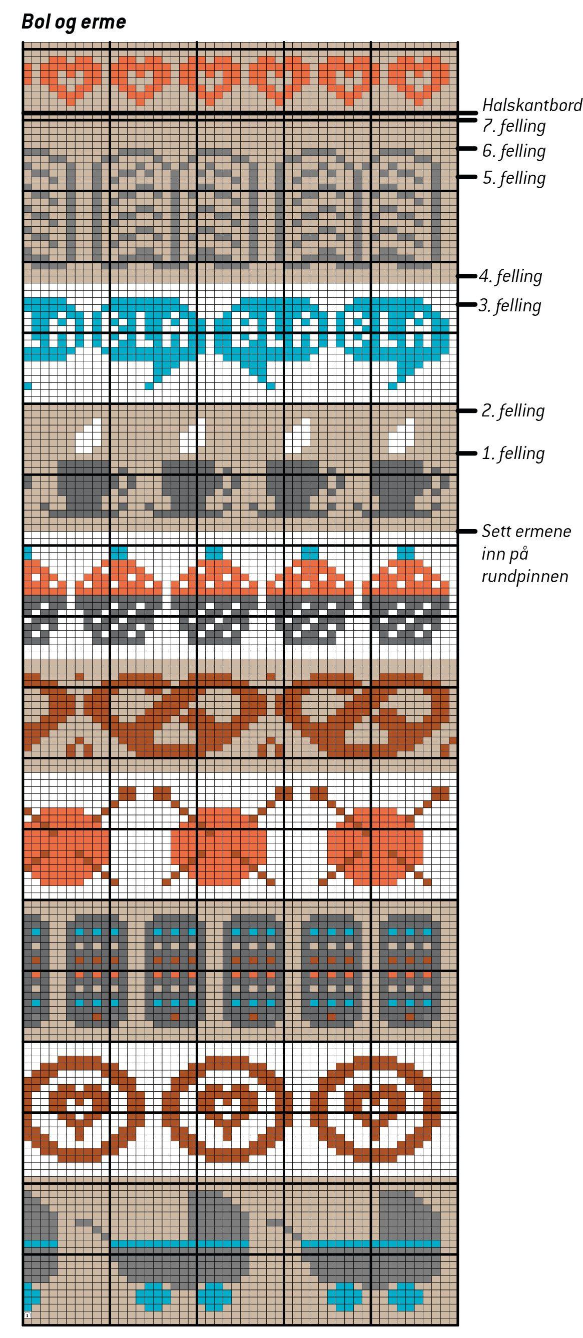 Assorted Fair Isle charts (baby buggies, needles & yarn, cupcakes ...