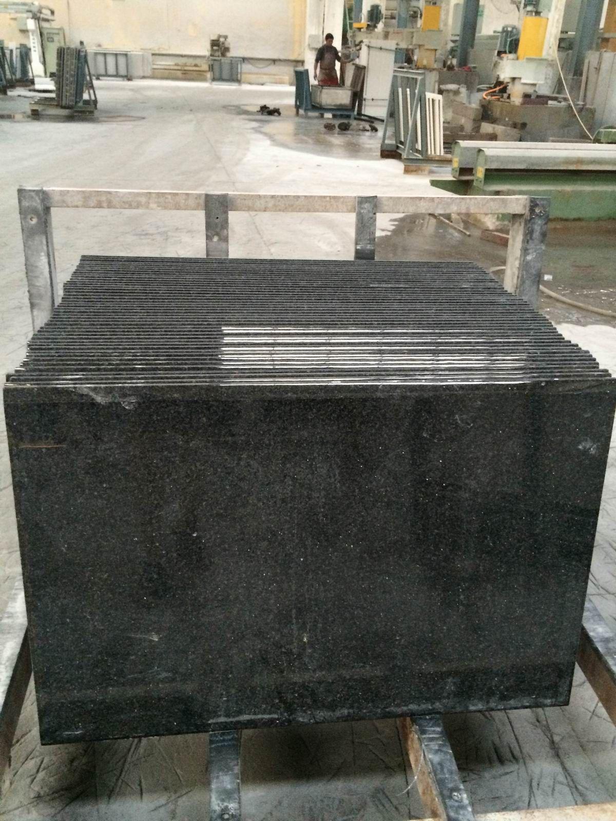Black Galaxy Stone Granite Kitchen Countertops Yyt Granite