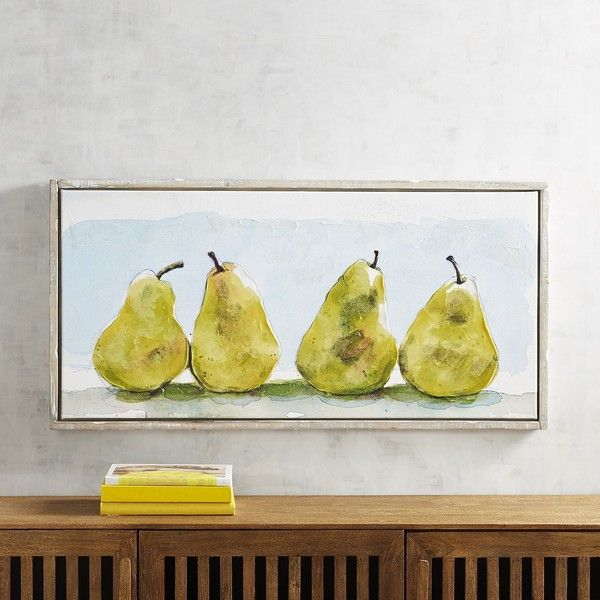 Pier 1 Imports Framed Pears Art (200 CAD) ❤ liked on Polyvore ...