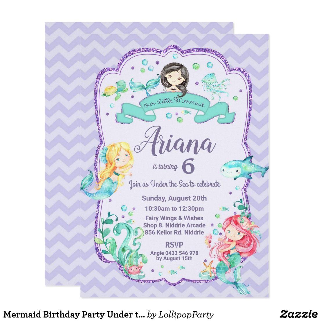 Pin On Mermaid Birthday Party Ideas