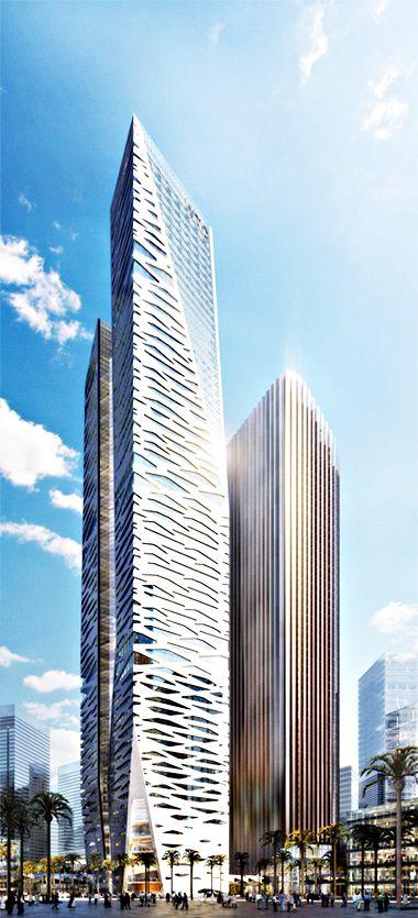 KAFD World Trade Centre, King Abdullah Financial District, PPA 30 Parcel 1.15, Riyadh, Saudi Arabia by Gensler Architects:: 67 floors, height 303m :: under construction