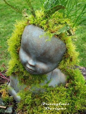 Diy Doll Head Planter Created From Barbie Doll Type 400 x 300