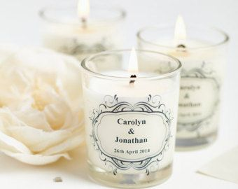 10 X Bomboniere Personalizzata Candele Profumate Inverno Sposa Matrimonio Vintage Candle Favors Personalized Wedding Favors Personalized Scented Candles