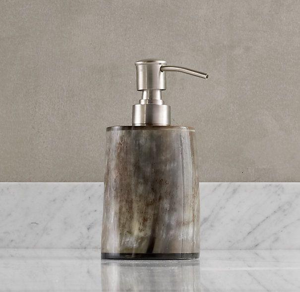 Restoration hardware horn soap dispenser go home soap - Restoration hardware bathroom accessories ...