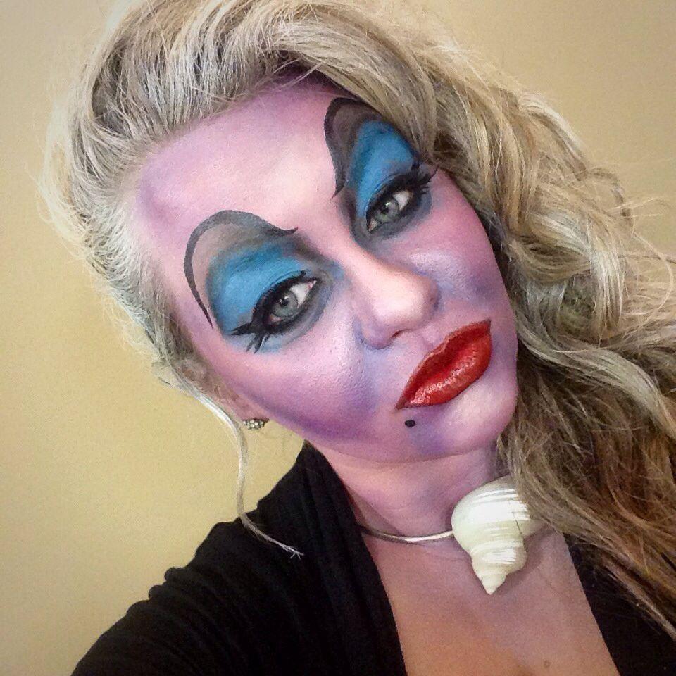 Ursula Makeup 😈🐚 Ursula makeup, Makeup, Halloween face
